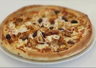 pizza cu carne kebap